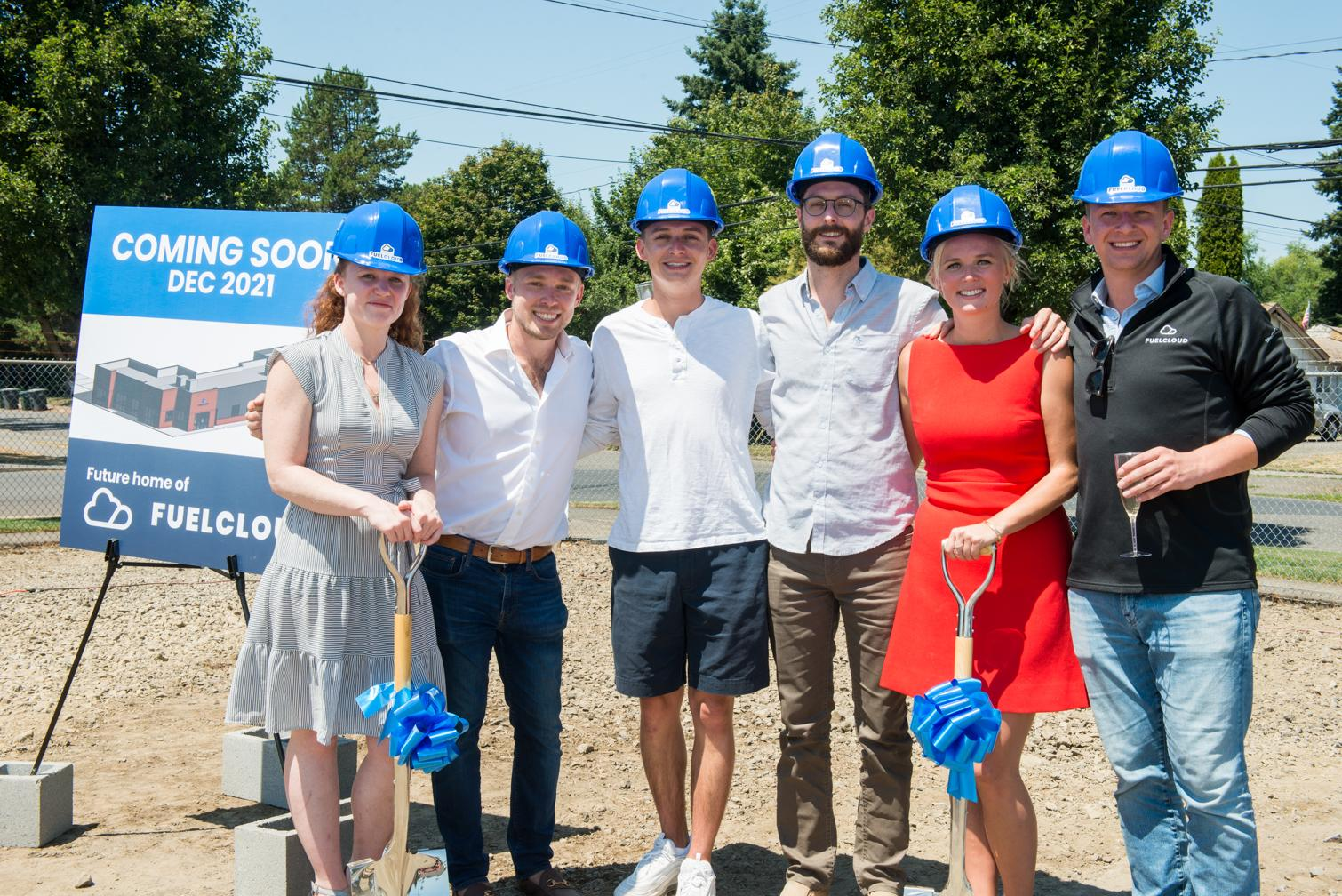 FuelCloud's Founding Team celebrates the groundbreaking